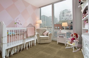 Baby Nursery with Carpet Tiles